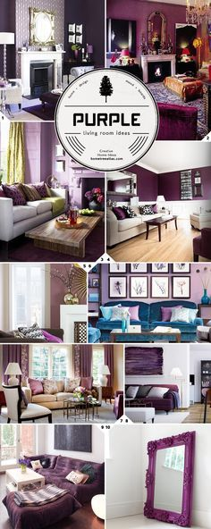 Purple, lilac, raspberry, blue, teal and green cohabitating serenely.