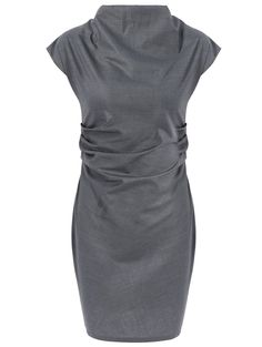 Work Style Round Neck Short Sleeve Solid Color Women's Dress LAVELIQ. title: Product Details   Style: Work   Material: Polyester   Silhouette: Sheath   Dresses Length: Knee-Length   Neckline: Round Collar   Sleeve Length: Short Sleeves   Pattern Type: Solid   With Belt: No   Season: Summer   Weight: 0.197kg   Package Contents: 1 x Dress
