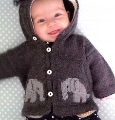 Adelie's Elephants Knitting pattern by Eileen Vito Baby Knitting Patterns, Baby Patterns, Stitch Patterns, Little Elephant, Baby Elephant, Elephant Sweater, Elephant Pattern, Baby Sweaters, Color Pop