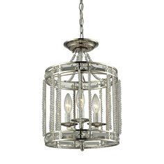ELK Lighting 31504/3 Aubree Collection Polished Nickel Finish