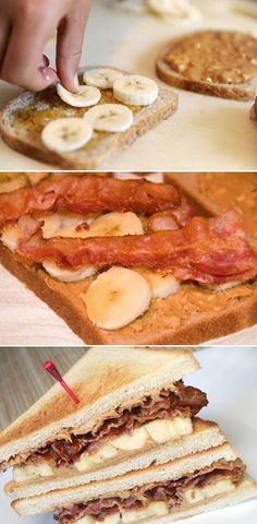 Grilled Peanut Butter Banana Bacon Sandwich - It's got a little bit of creamy, crunchy and crazy all mixed into one sandwich. SO good!