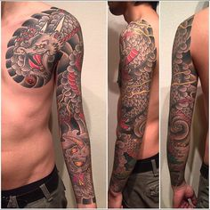 #throwback #inkeeze #traditional #japanese #tattoo #Japan #tattoos #irezumi #dragon #mask #japaneseart #artist by horiyotatt https://www.instagram.com/p/BEco5PNyUHD/