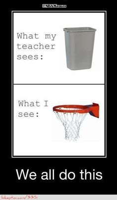 Basketball Hoop or Trashcan? - http://weheartlakers.com/nba-funny-meme/basketball-hoop-or-trashcan