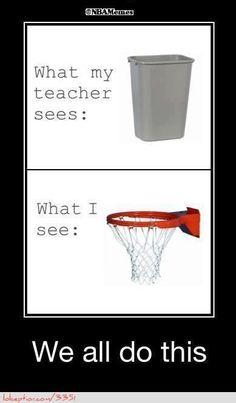 Basketball Hoop or Trashcan? - http://weheartlakers.com/nba-funny-meme/basketball-hoop-or-trashcan
