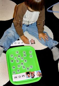 Bottle Top Names ~ Tot Tray {41 months}