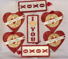 Add some sparkle to your Valentines Day with glittered hearts and tags.  http://rogersgardens.com/home-decor/