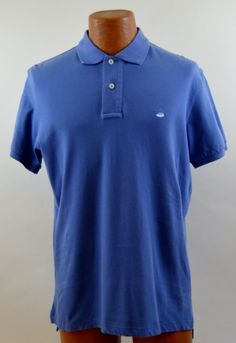 Southern Tide M 38 Skip Jack Polo Blue Cotton Shirt Used #SouthernTide #PoloRugby