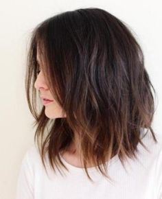 Messy Bob with Lightened Ends- Bob hairstyles