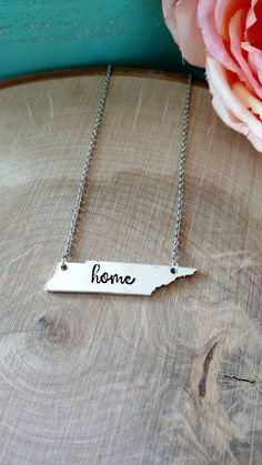 Tennessee necklace home necklace Tennessee jewelry TN by Love1Oak