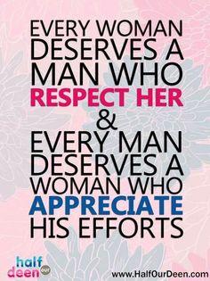 Respect and Appreciate!