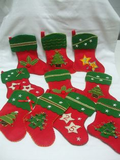 Botas de Natal em feltro - Handmade