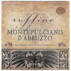 Montepulciano, in this case it is the variety. Made in the Italian region of Abruzzo, this is versatile red wine