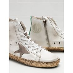 Golden Goose Saldi 2017 Golden Goose Donna FRANCY Bianche Sneakers  G31WS591.A99 - 2017 Golden 77504c782d4