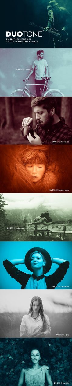 Duotone Lightroom Presets. Photo Effect Photoshop Actions. $16.00