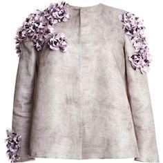 Giambattista Valli Sacco Gazar Wheel Jacket (423.040 RUB) ❤ liked on Polyvore featuring outerwear, jackets, tops, giambattista valli, grey, giambattista valli jacket, flower print jacket, floral print jacket and gray jacket