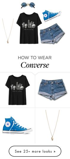 """Sem título #219"" by glittercum on Polyvore featuring Converse and Minor Obsessions"