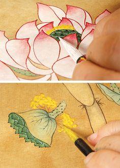 Lotus Painting, Folk Art, Pottery, Draw, Illustration, Kunst, Ceramica, Popular Art, Pottery Marks