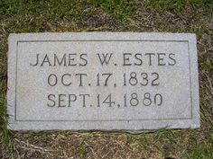 Born in 17 Oct 1832 and died in 14 Sep 1880 Leeds, South Carolina James Washington Estes Find A Grave, Ancestry, Washington, Washington State