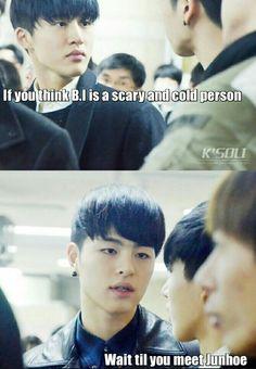 "Lol.. That's true :) Junhoe always :))) and hanbin ;)) ""IKON"" coming soon~~~ :)))))"