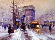 L Arc de Triomphe, Paris- Edouard Leon Cortes