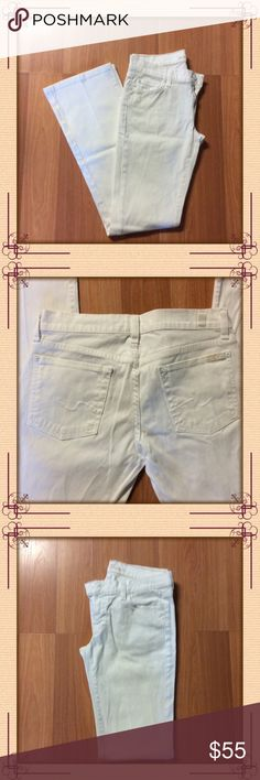 7 For all Mankind White Bootcut Jeans White 7 for all Mankind bootcut jeans. Jeans are in excellent pre-loved condition! Size 28 7 For All Mankind Jeans Boot Cut