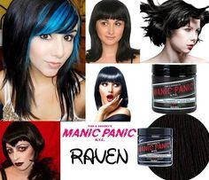tinte fantasia para pelo negro manic panic raven