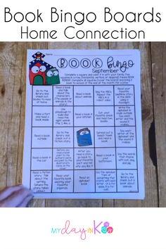 Book Bingo Home Connection-Reading Incentive (Editable) Distance Learning Homework Bingo, Reading Bingo, Reading Response, Reading Skills, Writing Skills, Elementary Teaching, Teaching Phonics, Teaching Tips, Kindergarten Reading Activities