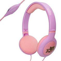iKross Purple / Pink Kid Safe Over the Ear Headphone w/ Padded Design & Volume Limiter for Kids Tablets