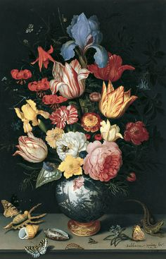 Balthasar van der Ast (Dutch, 1593/94-1657). Flowers, shells and insects