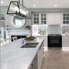"CDK Stone on Instagram: ""Beautiful Carrara marble kitchen by @anitanader.id and @wisdomhomes #cdkstone #carraramarble #naturalstone #naturalbeauty…"" Carrara Marble Kitchen, Stone Kitchen, Natural Stones, Kitchen Design, Kitchens, Home Decor, Beautiful, Instagram, Cuisine Design"