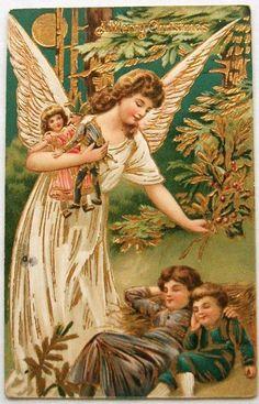 Victorian Christmas Angels | christmas, angel, vintage angels, victorian images, nostalgia, old ...