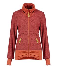 Look at this #zulilyfind! Coral Melange Inkeri Finside Jacket #zulilyfinds