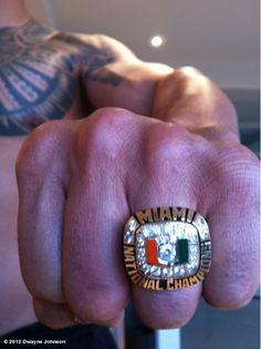 "Miami Hurricanes Dwayne ""The Rock"" Johnson's National Championship Ring!"