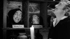 Marty Feldman and Gene Wilder in Young Frankenstein, 1974.