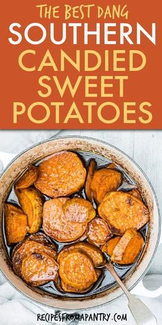 Time to make some buttery and tasty Southern Candied Sweet Potatoes. This Southern-style baked Candied Sweet Potatoes Recipe is a classic holiday side dish but is perfect for traditional Sunday night supper too. It is super easy, ready in about an hour, and even more amazing topped with marshmallows or pecans. Click through to get Candied Yams recipe!! #CandiedSweetPotatoes #candiedsweetpotatoes #Candiedyams #bakedcandiedsweetpotatoes #southerncandiedyams #southernrecipes #yams…