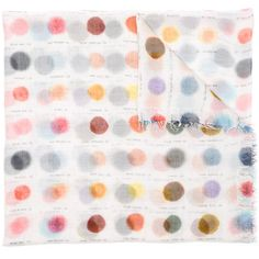 Faliero Sarti polka-dot scarf ($258) ❤ liked on Polyvore featuring accessories, scarves, colorful shawl, faliero sarti, polka dot scarves, colorful scarves and multi colored scarves