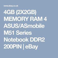 4GB (2X2GB) MEMORY RAM 4 ASUS/ASmobile M51 Series Notebook DDR2 200PIN  | eBay