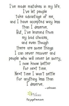 Actually, I'm so much better off right now, that I don't care if there isn't a next time again.