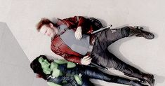 peter quill x gamora ❤ Marvel Characters, Marvel Movies, Marvel Dc Comics, Marvel Avengers, Starlord And Gamora, Gaurdians Of The Galaxy, Black Widow Movie, Peter Quill, Dc Memes