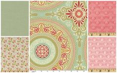 coral & turquoise baby girl quilts | Baby Girl Bedding Setcoral green pink aqua by WildflowerQuilting, $247 ...