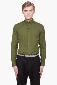 Olive Green Cuban Shirt by Givenchy