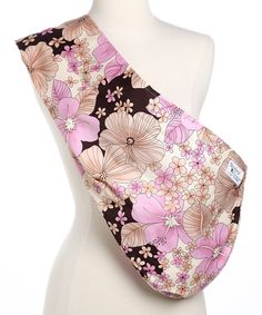 Take a look at this Pink & Brown Hibiscus Padded Sling on zulily today!