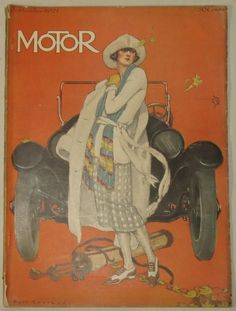 Motor, Sept. 1921. Cover by Ruth Eastman.