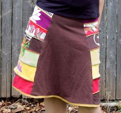 Upcycled Tshirt Skirt by kendragrace on Etsy