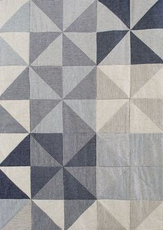 Denim Pinwheel Quilt | Purl Soho Plaid Patchwork, Patchwork Quilting, Modern Quilting, Purl Bee, Quilting Projects, Quilting Designs, Sewing Projects, Patchwork Designs, Quilting Ideas