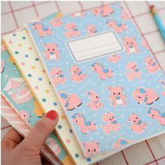 Image about notebook in Kawaii School Supplies by purity Vintage Notebook, Handmade Notebook, Cute Stationary, Cute School Supplies, Office Supplies, Cute Office, Cute Notebooks, Kawaii Stationery, All Things Cute