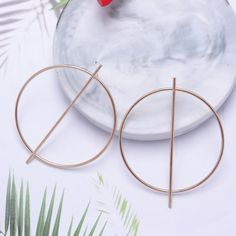 New Fashion Exaggerated Big Circle Round Drop Earrings – GoFashionova Punk Earrings, Gold Drop Earrings, Circle Earrings, Fashion Earrings, Clip On Earrings, Statement Earrings, Dangle Earrings, Wedding Earrings, Earring Hole
