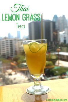 Thailand Lemon Grass Tea Recipe! Delicious and refreshing drink to beat the summer heat.