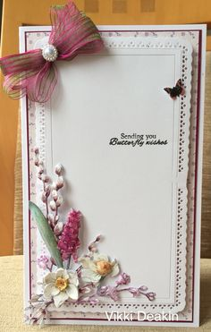 Tattered Lace Cards, Adult Crafts, Birthday Cards, Things To Do, Projects To Try, Card Making, Butterfly, Create, Simple