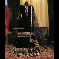black designer sharara suit Whatsapp 918888328116 or mail at ethnicdiagmailcom for more details